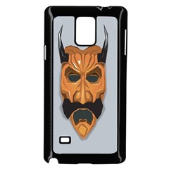 Mask India South Culture Samsung Galaxy Note 4 Case (black) by Celenk