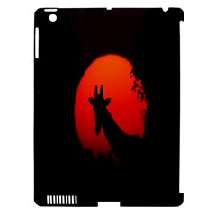 Giraffe Animal Africa Sunset Apple Ipad 3/4 Hardshell Case (compatible With Smart Cover) by Celenk