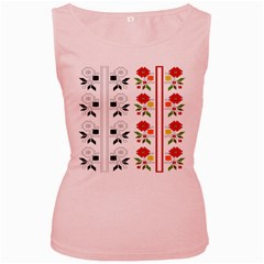 Bulgarian Folk Art Folk Art Women s Pink Tank Top by Celenk