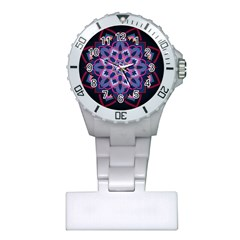 Mandala Circular Pattern Plastic Nurses Watch by Celenk