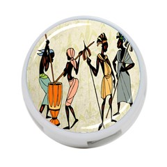Man Ethic African People Collage 4 Port Usb Hub (two Sides)  by Celenk