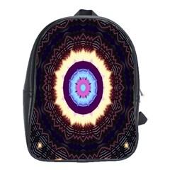 Mandala Art Design Pattern School Bag (xl) by Celenk