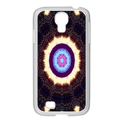 Mandala Art Design Pattern Samsung Galaxy S4 I9500/ I9505 Case (white) by Celenk