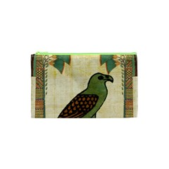 Egyptian Paper Papyrus Bird Cosmetic Bag (xs) by Celenk