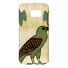 Egyptian Paper Papyrus Bird Samsung Galaxy S7 Edge Hardshell Case by Celenk