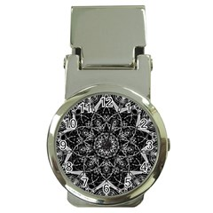 Mandala Psychedelic Neon Money Clip Watches by Celenk