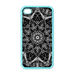 Mandala Psychedelic Neon Apple Iphone 4 Case (color) by Celenk