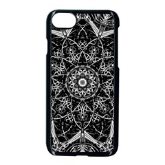 Mandala Psychedelic Neon Apple Iphone 8 Seamless Case (black) by Celenk