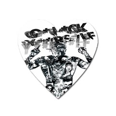 Black Music Urban Swag Hip Hop Heart Magnet by Celenk