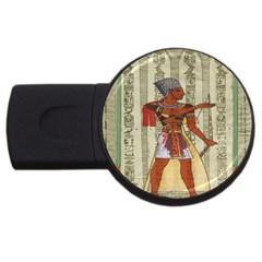 Egyptian Design Man Royal Usb Flash Drive Round (2 Gb) by Celenk