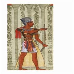 Egyptian Design Man Royal Small Garden Flag (two Sides) by Celenk