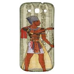 Egyptian Design Man Royal Samsung Galaxy S3 S Iii Classic Hardshell Back Case by Celenk