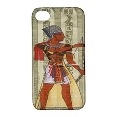 Egyptian Design Man Royal Apple Iphone 4/4s Hardshell Case With Stand by Celenk