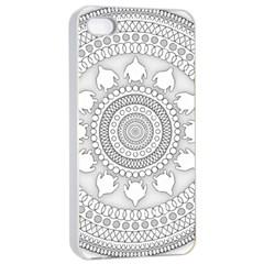 Mandala Ethnic Pattern Apple Iphone 4/4s Seamless Case (white) by Celenk