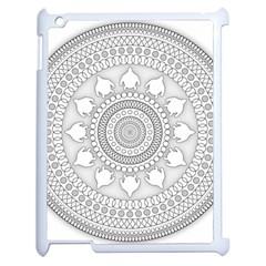 Mandala Ethnic Pattern Apple Ipad 2 Case (white) by Celenk