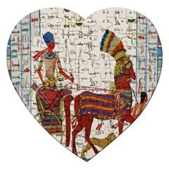 Egyptian Tutunkhamun Pharaoh Design Jigsaw Puzzle (heart) by Celenk