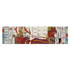 Egyptian Tutunkhamun Pharaoh Design Satin Scarf (oblong) by Celenk