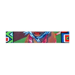 Ethnic Africa Art Work Drawing Flano Scarf (mini) by Celenk