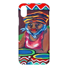 Ethnic Africa Art Work Drawing Apple Iphone X Hardshell Case by Celenk