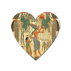 Egyptian Man Sun God Ra Amun Heart Magnet by Celenk