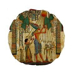 Egyptian Man Sun God Ra Amun Standard 15  Premium Flano Round Cushions by Celenk