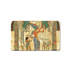 Egyptian Man Sun God Ra Amun Magnet (name Card) by Celenk