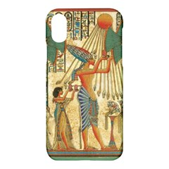 Egyptian Man Sun God Ra Amun Apple Iphone X Hardshell Case by Celenk
