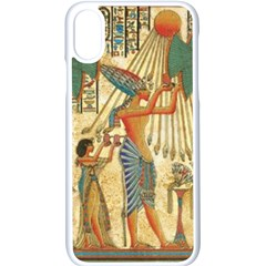 Egyptian Man Sun God Ra Amun Apple Iphone X Seamless Case (white) by Celenk