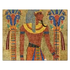 Egyptian Tutunkhamun Pharaoh Design Rectangular Jigsaw Puzzl by Celenk