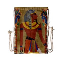 Egyptian Tutunkhamun Pharaoh Design Drawstring Bag (small) by Celenk