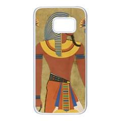 Egyptian Tutunkhamun Pharaoh Design Samsung Galaxy S7 White Seamless Case