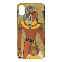 Egyptian Tutunkhamun Pharaoh Design Apple Iphone X Hardshell Case by Celenk