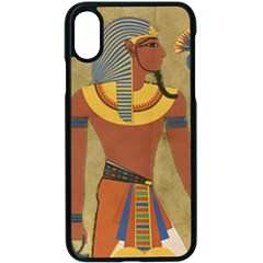 Egyptian Tutunkhamun Pharaoh Design Apple Iphone X Seamless Case (black) by Celenk