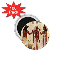 Egyptian Design Man Woman Priest 1 75  Magnets (100 Pack)  by Celenk