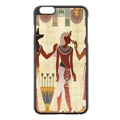 Egyptian Design Man Woman Priest Apple Iphone 6 Plus/6s Plus Black Enamel Case by Celenk