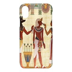Egyptian Design Man Woman Priest Apple Iphone X Hardshell Case by Celenk