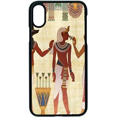 Egyptian Design Man Woman Priest Apple Iphone X Seamless Case (black) by Celenk