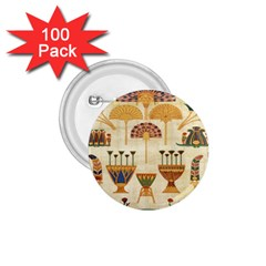 Egyptian Paper Papyrus Hieroglyphs 1 75  Buttons (100 Pack)  by Celenk