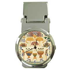 Egyptian Paper Papyrus Hieroglyphs Money Clip Watches by Celenk