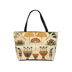 Egyptian Paper Papyrus Hieroglyphs Shoulder Handbags by Celenk