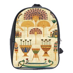 Egyptian Paper Papyrus Hieroglyphs School Bag (xl) by Celenk