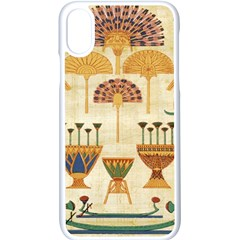 Egyptian Paper Papyrus Hieroglyphs Apple Iphone X Seamless Case (white) by Celenk