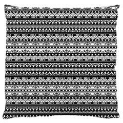 Zentangle Lines Pattern Large Cushion Case (two Sides) by Celenk