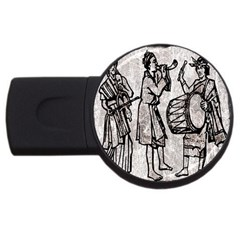 Man Ethic African People Collage Usb Flash Drive Round (2 Gb) by Celenk