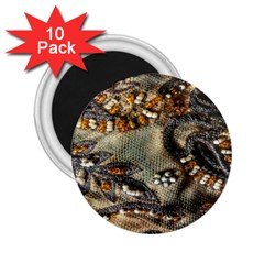 Texture Textile Beads Beading 2 25  Magnets (10 Pack)