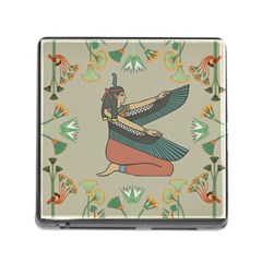 Egyptian Woman Wings Design Memory Card Reader (square) by Celenk