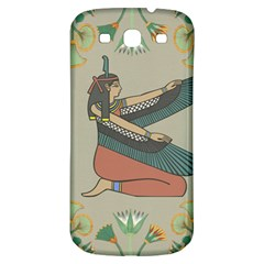 Egyptian Woman Wings Design Samsung Galaxy S3 S Iii Classic Hardshell Back Case by Celenk