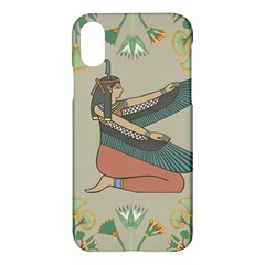 Egyptian Woman Wings Design Apple Iphone X Hardshell Case by Celenk