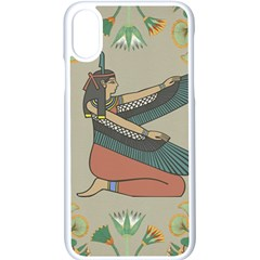 Egyptian Woman Wings Design Apple Iphone X Seamless Case (white) by Celenk