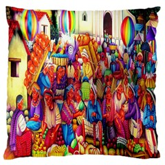 Guatemala Art Painting Naive Standard Flano Cushion Case (two Sides) by Celenk